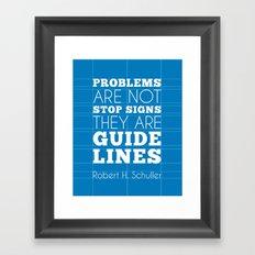 Guide Lines Framed Art Print