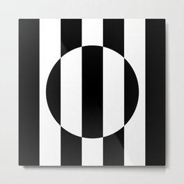 Op Art Striped Circle Metal Print