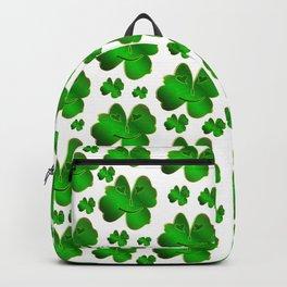 funny, laughing, shamrocks, green, st patricks day, shiny, gold, face, smile, shamrock Art Print Backpack