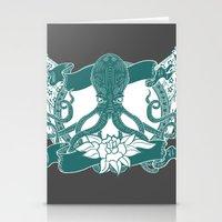 kraken Stationery Cards featuring KRAKEN by Norm Morales Originals