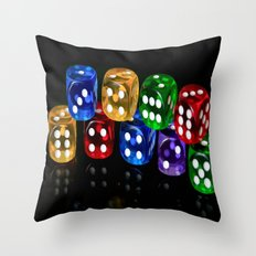 Game of Dice Throw Pillow