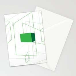 Blueprint #1 (green) Stationery Cards