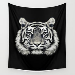 Tiger Portrait Wall Tapestry