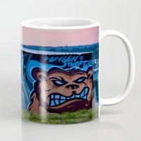 grand theft auto Mugs featuring Oxygen Theft by Mark Nelson