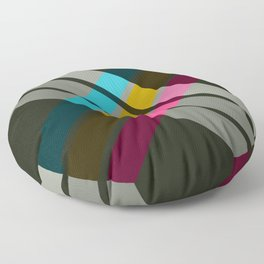 Adrena - Colorful Abstract X Art Floor Pillow