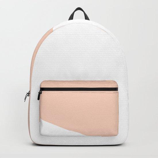 Geometric Blush Pink + White Backpack