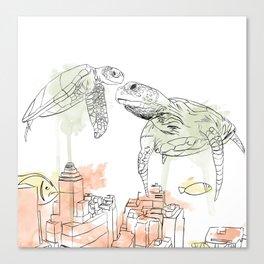 Urban Coral Canvas Print