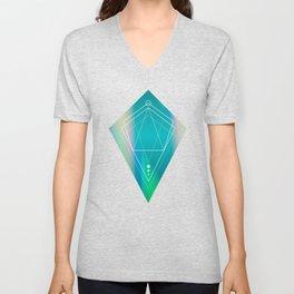 Hologram geometry Unisex V-Neck