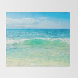 Ocean Blue Beach Dreams Throw Blanket