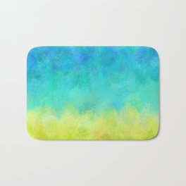 Sunflower and Ice Abstract Bath Mat
