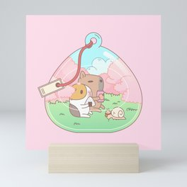 Bubu the Guinea pig, Cherry Blossom Terrarium Mini Art Print