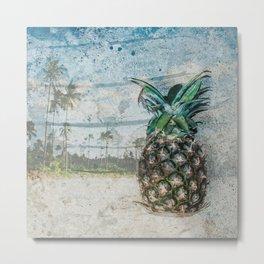 Pineapple Dreams Metal Print