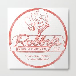 Robby's Ribs 'N' Chicken Metal Print