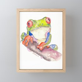 Attentive Frog Framed Mini Art Print