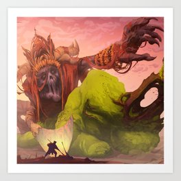 Demon of Misticism Art Print