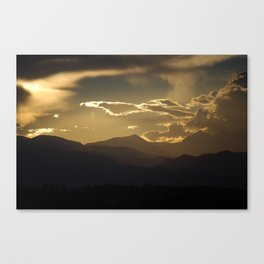 Shaded Mountains Canvas Print
