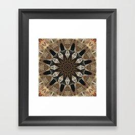 Mandala black Star Framed Art Print