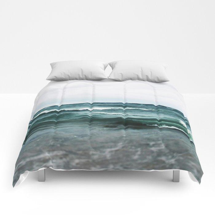 Turquoise Sea #2 Comforters