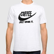 Coffee X-LARGE Mens Fitted Tee Ash Grey