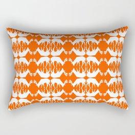 Oh, deer! in pumpkin orange Rectangular Pillow