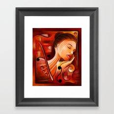 Casselopia - Violin dream Framed Art Print