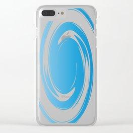 Twisty blue Clear iPhone Case