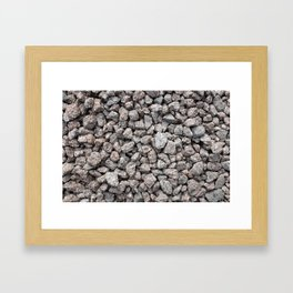 Grey granite roadstone Framed Art Print