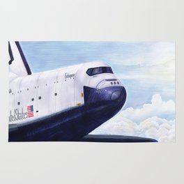 Enterprise Through The Clouds - Drawing Rug