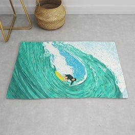 Big wave surfer Rug