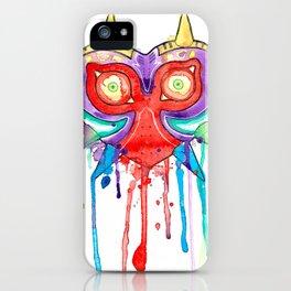Majoras Mask Splatter iPhone Case