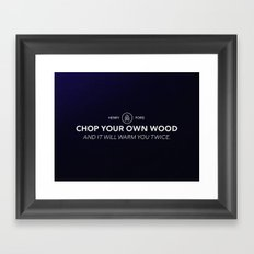 Henry Ford Quote Framed Art Print