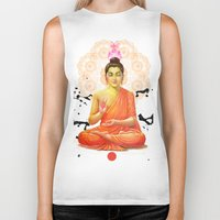 buddha Biker Tanks featuring Buddha by O. Be