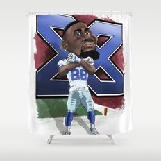 Dez Bryant Caricature Shower Curtain