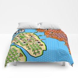 Super Map of Halifax Comforters