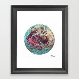 Squirrel Princess Framed Art Print
