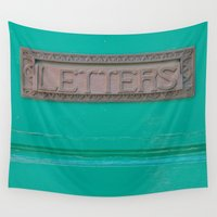 letters Wall Tapestries featuring Letters by Riot Jane