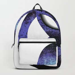 Psychedelic Hippie Alien Aqua Peace Sign Gift  design Backpack