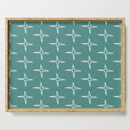 Nautical Star Teal #homedecor Serving Tray