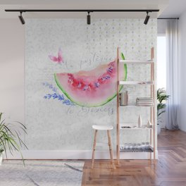 La Pastèque de Béziers—Watermelon and Lavender, Provence Wall Mural