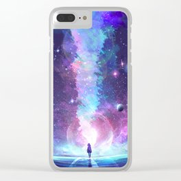 Starry Rupture Clear iPhone Case