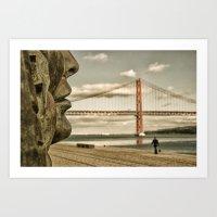 bridge Art Prints featuring Bridge by Sébastien BOUVIER