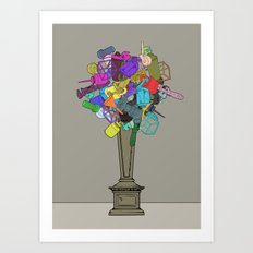 Fleur de Mechanique Art Print