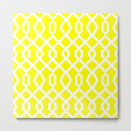 Grille No. 3 -- Yellow Metal Print