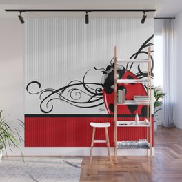 FANCY LADYBUG | red Wall Mural