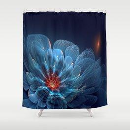3D Blue Flower V2 Shower Curtain