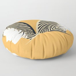 Gemini I Yellow and Black I Sunsign Floor Pillow