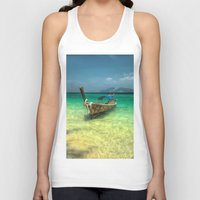 thailand Tank Tops featuring Thailand Longboat by Adrian Evans