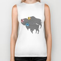 buffalo Biker Tanks featuring Buffalo  by Xandra Creative
