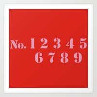 numbers Art Prints featuring NUMBERS by Ljubica Cehovin