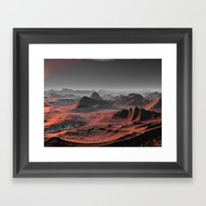 Visiting other planets 9 Framed Art Print